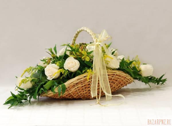 Корзинки для живых цветов своими руками 1075